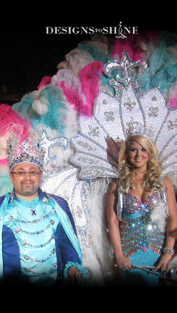 Krewe of Venus XLV King Adam Levine and Queen Venus XLV Morgan Prevatt