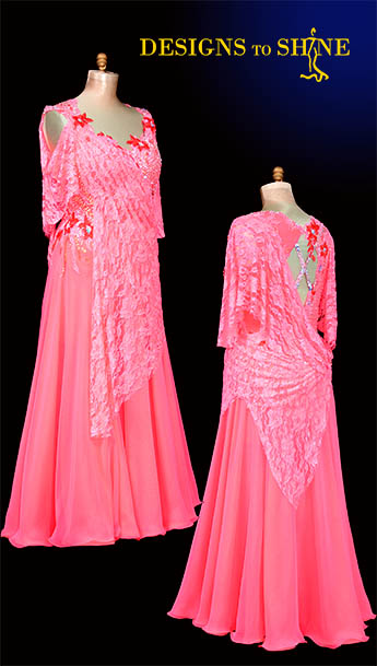 ballroom-gowns-melon-lace-B18225