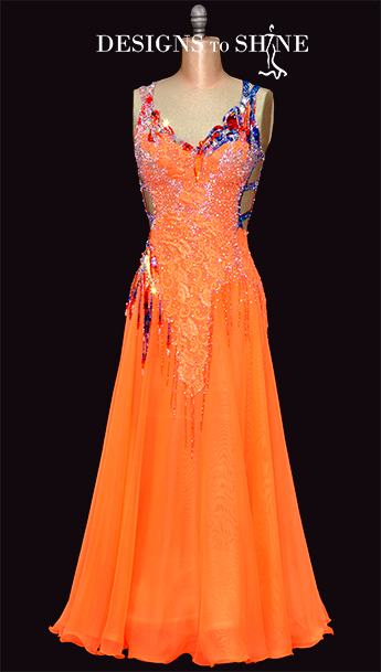 ballroom-gowns-rama-jama-orange-B18171