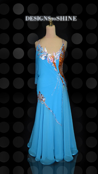 ballroom-gowns-Lined-with-Blue-B14381