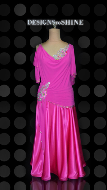 ballroom-gowns-Pink-Licious-front-B15288