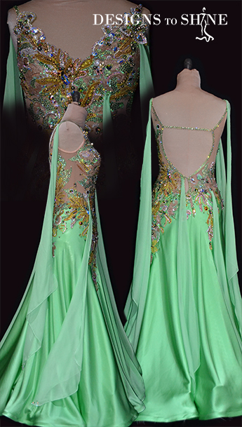 ballrom-gowns-green-apple-temptation-B16345