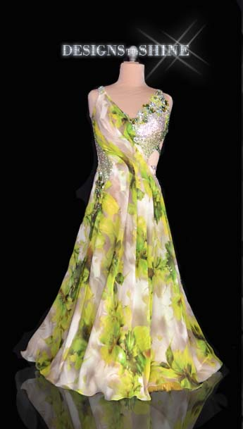 ballroom-gowns-Blossoming-Green-B16320