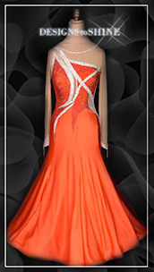 ballroom-gowns-Orange-Mariko-B14257