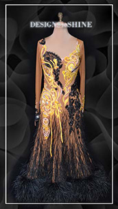ballroom-gowns-Yellow-in-Love-B14086
