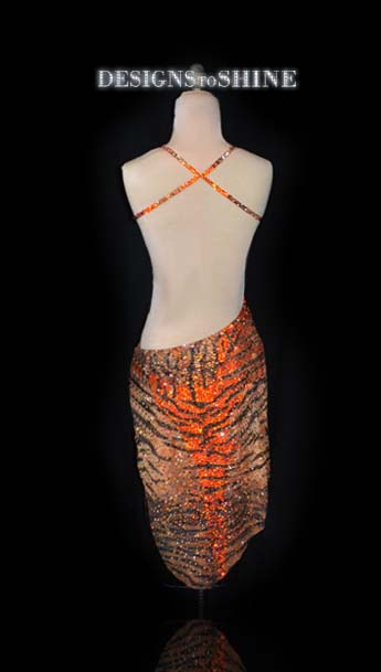 latin-dancewear-Tigerprint-L16197