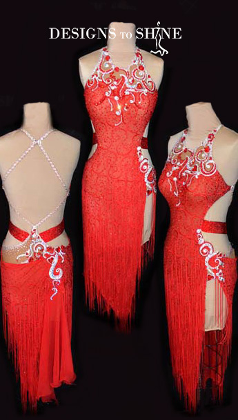 latin-dancewear-Everyred-L16129